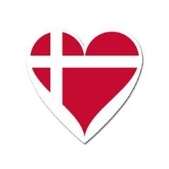 Heart Love Flag Denmark Red Cross Heart Magnet