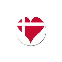 Heart Love Flag Denmark Red Cross Golf Ball Marker