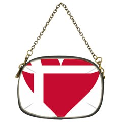 Heart Love Flag Denmark Red Cross Chain Purses (one Side)