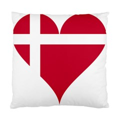 Heart Love Flag Denmark Red Cross Standard Cushion Case (one Side)