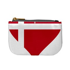 Heart Love Flag Denmark Red Cross Mini Coin Purses
