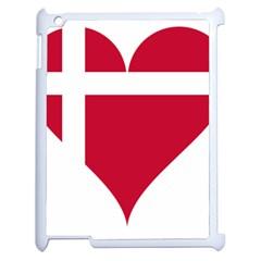 Heart Love Flag Denmark Red Cross Apple Ipad 2 Case (white)