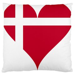 Heart Love Flag Denmark Red Cross Large Cushion Case (two Sides)