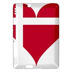 Heart Love Flag Denmark Red Cross Kindle Fire Hdx Hardshell Case