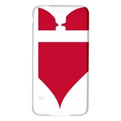Heart Love Flag Denmark Red Cross Samsung Galaxy S5 Back Case (white)