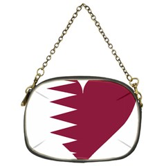 Heart Love Flag Qatar Chain Purses (one Side)