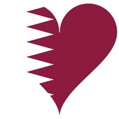 Heart Love Flag Qatar Magic Photo Cubes