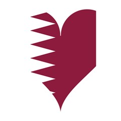 Heart Love Flag Qatar Shower Curtain 48  X 72  (small)