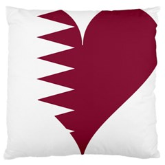 Heart Love Flag Qatar Large Cushion Case (one Side)