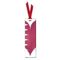 Heart Love Flag Qatar Small Book Marks