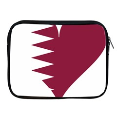Heart Love Flag Qatar Apple Ipad 2/3/4 Zipper Cases