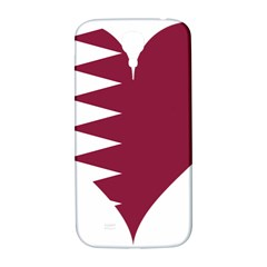 Heart Love Flag Qatar Samsung Galaxy S4 I9500/i9505  Hardshell Back Case