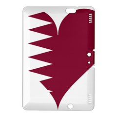 Heart Love Flag Qatar Kindle Fire Hdx 8 9  Hardshell Case