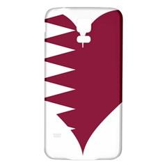 Heart Love Flag Qatar Samsung Galaxy S5 Back Case (white)