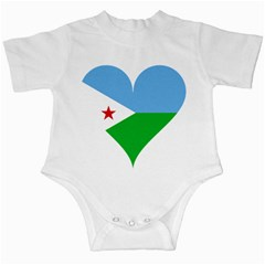 Heart Love Flag Djibouti Star Infant Creepers