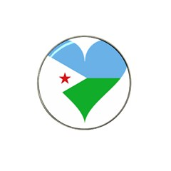 Heart Love Flag Djibouti Star Hat Clip Ball Marker (4 Pack)