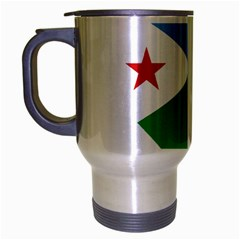 Heart Love Flag Djibouti Star Travel Mug (silver Gray)