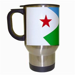 Heart Love Flag Djibouti Star Travel Mugs (white)