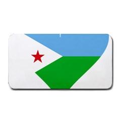 Heart Love Flag Djibouti Star Medium Bar Mats
