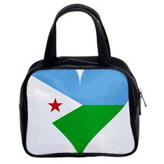 Heart Love Flag Djibouti Star Classic Handbags (2 Sides)