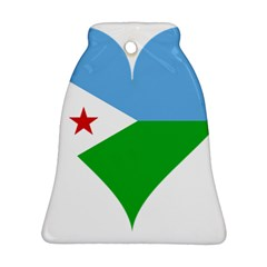 Heart Love Flag Djibouti Star Bell Ornament (two Sides)