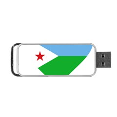 Heart Love Flag Djibouti Star Portable Usb Flash (one Side)