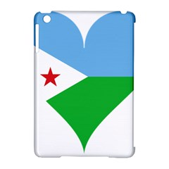 Heart Love Flag Djibouti Star Apple Ipad Mini Hardshell Case (compatible With Smart Cover)