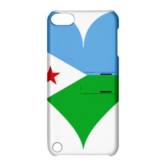 Heart Love Flag Djibouti Star Apple Ipod Touch 5 Hardshell Case With Stand