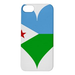 Heart Love Flag Djibouti Star Apple Iphone 5s/ Se Hardshell Case