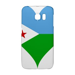 Heart Love Flag Djibouti Star Galaxy S6 Edge