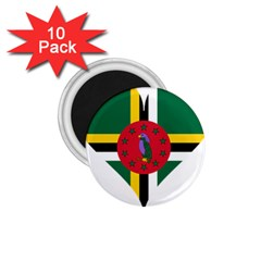 Heart Love Flag Antilles Island 1 75  Magnets (10 Pack)