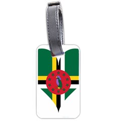 Heart Love Flag Antilles Island Luggage Tags (one Side)