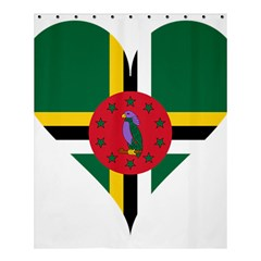 Heart Love Flag Antilles Island Shower Curtain 60  X 72  (medium)