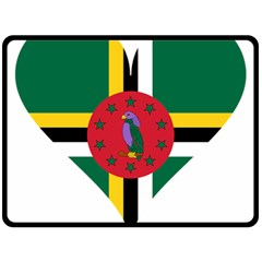 Heart Love Flag Antilles Island Double Sided Fleece Blanket (large)