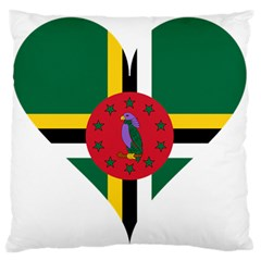 Heart Love Flag Antilles Island Large Flano Cushion Case (two Sides)