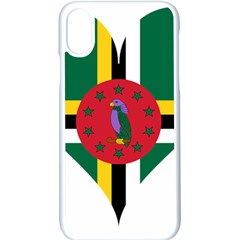 Heart Love Flag Antilles Island Apple Iphone X Seamless Case (white)