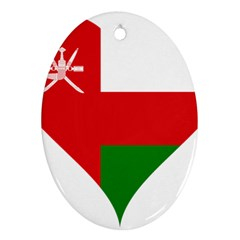 Heart Love Affection Oman Ornament (oval)