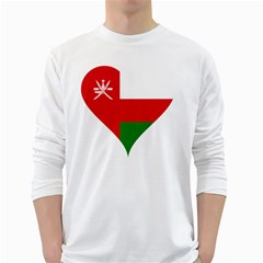 Heart Love Affection Oman White Long Sleeve T Shirts