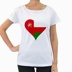 Heart Love Affection Oman Women s Loose Fit T Shirt (white)