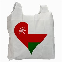 Heart Love Affection Oman Recycle Bag (one Side)