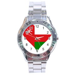 Heart Love Affection Oman Stainless Steel Analogue Watch