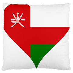 Heart Love Affection Oman Large Cushion Case (one Side)