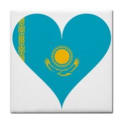 Heart Love Flag Sun Sky Blue Tile Coasters