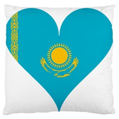 Heart Love Flag Sun Sky Blue Large Flano Cushion Case (one Side)