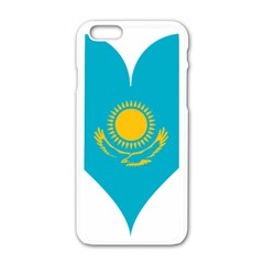 Heart Love Flag Sun Sky Blue Apple Iphone 6/6s White Enamel Case