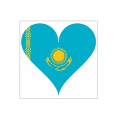 Heart Love Flag Sun Sky Blue Satin Bandana Scarf