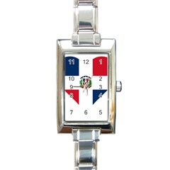 Heart Love Dominican Republic Rectangle Italian Charm Watch
