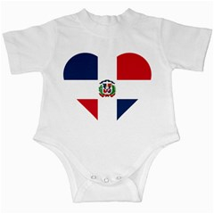Heart Love Dominican Republic Infant Creepers
