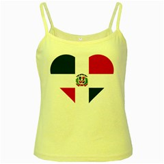 Heart Love Dominican Republic Yellow Spaghetti Tank
