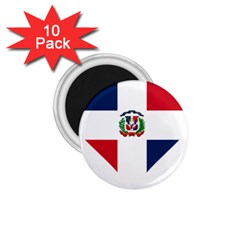Heart Love Dominican Republic 1 75  Magnets (10 Pack)